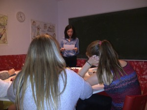 Students on intensive Spanish course in Spain