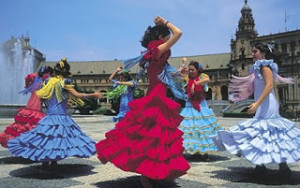 Traditional Flamenco dancing